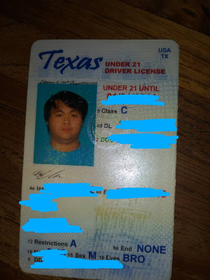My friend wore the same color shirt as the backdrop when he got his ID now his ID picture looks like a floating head