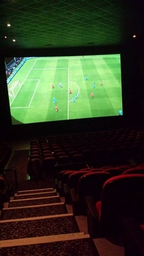 My friend works at the cinema and wanted to play Fifa
