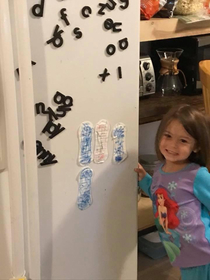 My friends daughter made her own stickers