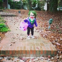 My friends daughter makes a terrifying Joker