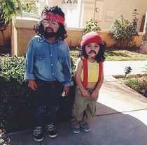 My friends daughters last Halloween as Cheech and Chong