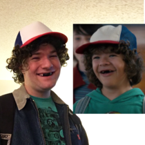 My friends Dustin from Stranger Things costume is eerily identical