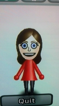 My Friends GF became upset with the number of random female Mii characters He and I had jokingly created for our friends so she deleted All of them except her ownI responded by changing her Mii to THIS