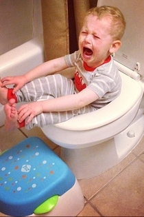 My friends kid is having a hard time potty training