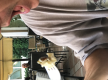 My friends mom was pretending to take a photo of her husband to sneak a photo of John Travolta this weekend
