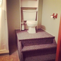 My friends toilet is a throne