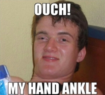 My girlfriend after hurting her wrist