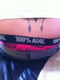 My girlfriend noticed a stitching error on my boxers Its meant to say Animal I can live with it