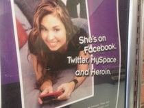 My god shes on MySpace