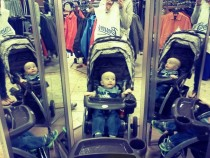 My Godsons first experience with a -way mirror x-post raww
