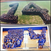 My  graduating class picture compared to another school in our districts  picture