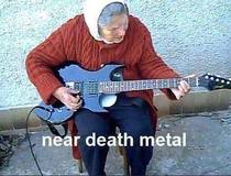 My grandma sent me this picture a few days ago being a metalhead I lost my shit