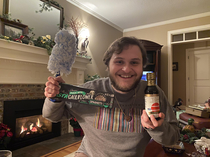 My grandma thought candythe yearly stocking tradition had gluten in it so I got gluten free soy sauce a duster and cauliflower pasta in my stocking LOVE HER SO MUCH
