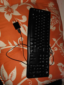 My grandmother was having problems with her new wired keyboard She brought it with her when she visited This is what I found