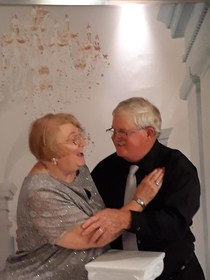 My grandparents cant help laughing at each other whenever a photographer ask them to look at eachother I find it so cute