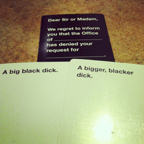 My greatest play in Cards Against Humanity