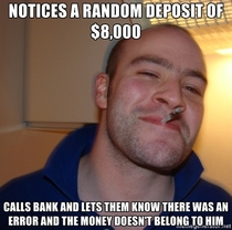 My husband ladies and gentsthe bank kept thanking him for his honesty
