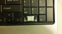 My keyboard is pissed at me for removing the  key