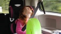 My kids are masters at falling asleep anywhere and at any time Today it was while eating fries