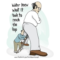 My latest Doodle Walter on making it to the top