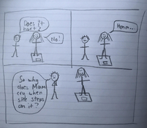 My little cousin drew this comic and Im wheezing