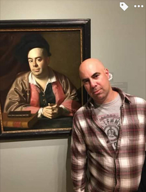 My little cousins wanted to know why the art museum had a painting of their uncle