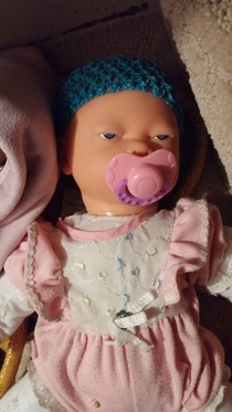 My little sisters doll is real sick of your shit