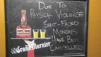 My local bar isnt fucking around anymore