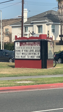My local churchs sign maker is witty