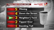 My local weather station has a creative way to measure the wind strength