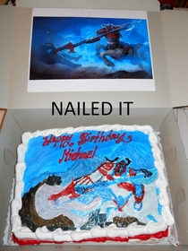 My LoL themed birthday cake The baker actually thought he could free-hand it