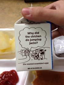 My lunch milk had a abortion joke on it
