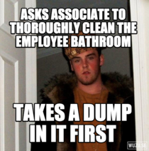 My manager everyone Unfortunately for me the company doesnt provide gas masks as one of their cleaning supplies