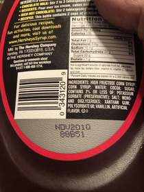 My mother-in-law is notorious for keeping expired cupboard items She broke out this chocolate syrup at a family gathering last night