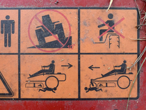 My mower has a diagram for mowing down small children