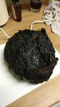 My mum overcooked the Christmas ham a little bit