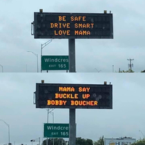 My neighbor posted our updated highway signage in Texas this morning