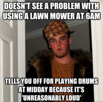 My neighbour is a scumbag and thought hell lay down the law I continued playing anyway