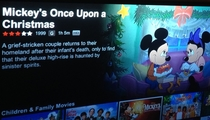 My Netflix had an error and kept the same description for everything