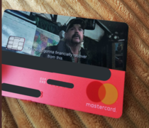 My new bank card came today which is inspired by Tiger king