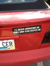 My new favorite bumper sticker