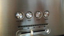 My new toaster has the most brilliant button