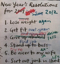 My New Years resolutions need updating