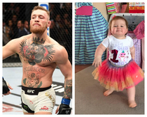 My niece doing her best Conor McGregor walk
