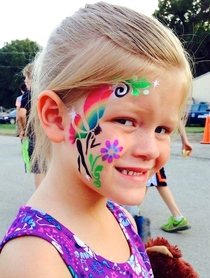 My niece got her face-painted I call it Tinkerbell from The Mike Tyson Collection