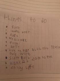 My niece has absolutely nailed her New Years Resolutions