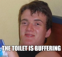 My nine year old daughter dropped this one on me today after she found the toilet running