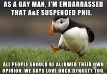 My opinion on the Duck Dynasty situation