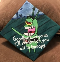 My painted graduation cap