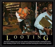 My reaction to store looting in Ferguson